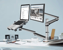 Workspace Organization - Laptop Monitor Mount