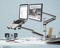 Workspace Organization - Laptop Monitor Mount